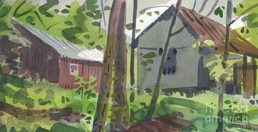 Barn Painting - Barns 12 by Donald Maier