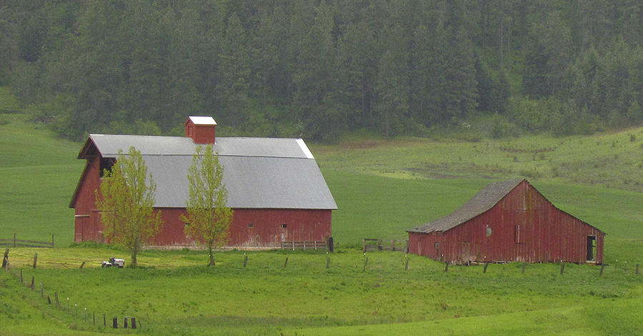Red Photograph - Barns Of The Palouse 5 by Tony and Kristi Middleton