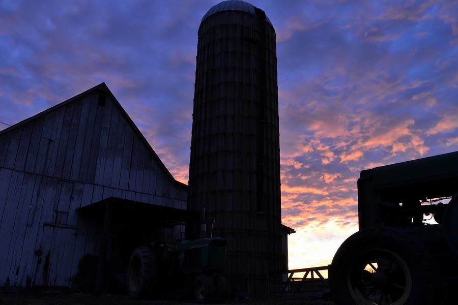 Maryland Photograph - Barnyard Sunrise IIi by JD Grimes