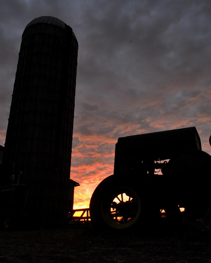 Maryland Photograph - Barnyard Sunrise Iv by JD Grimes
