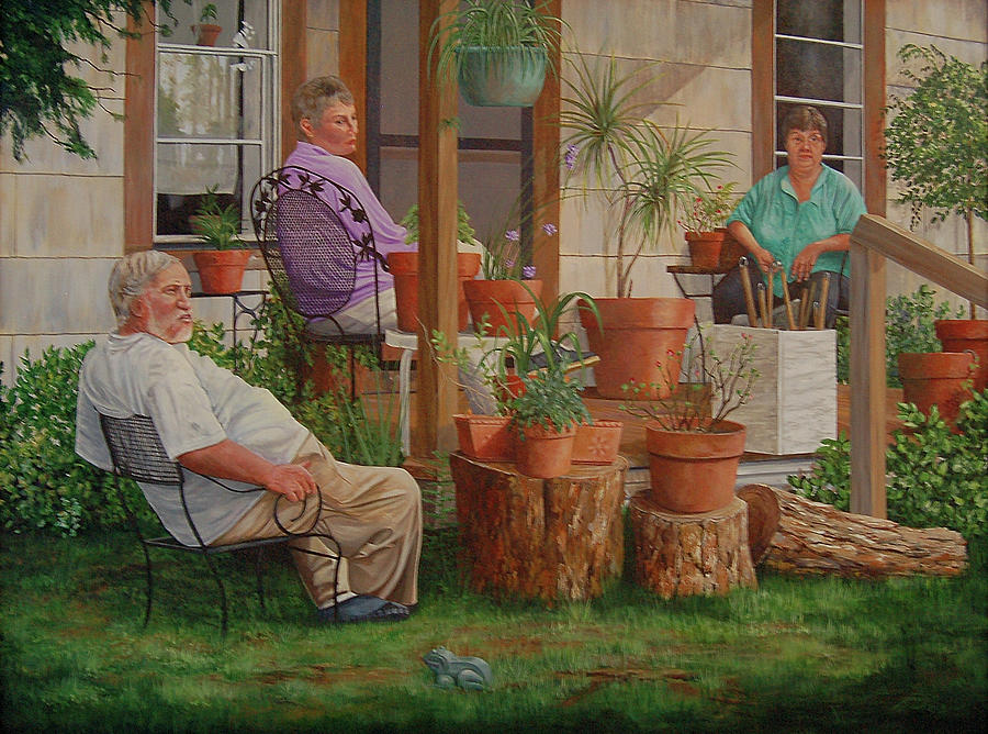 People Painting - Barons Estate by AnnaJo Vahle