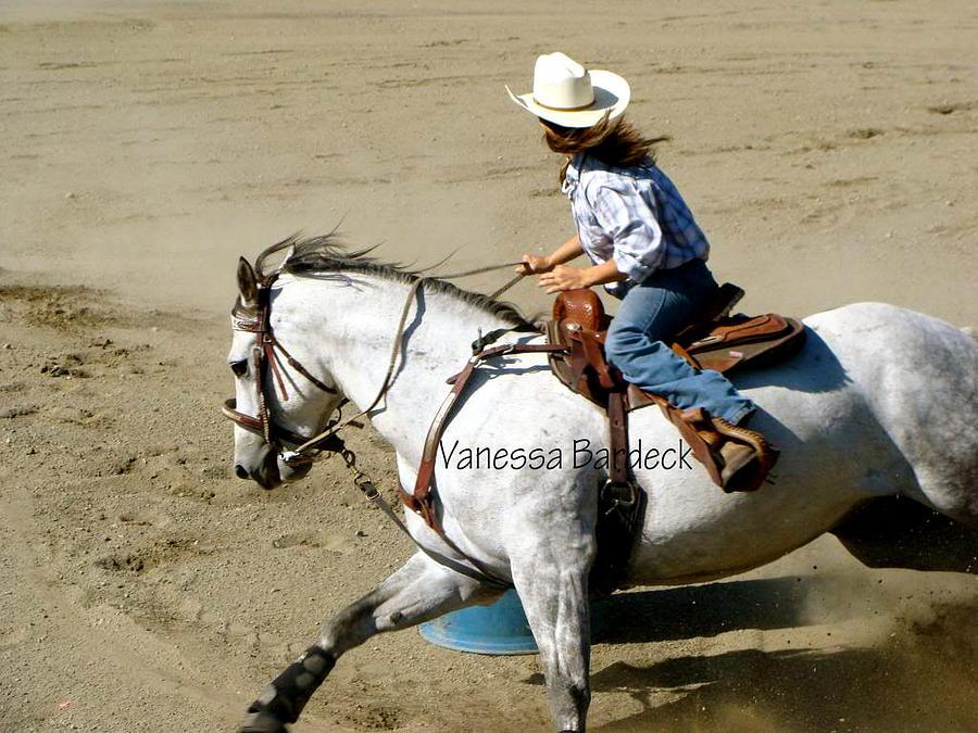 Horse Pyrography - Barrel Racer by Vanessa Bardeck