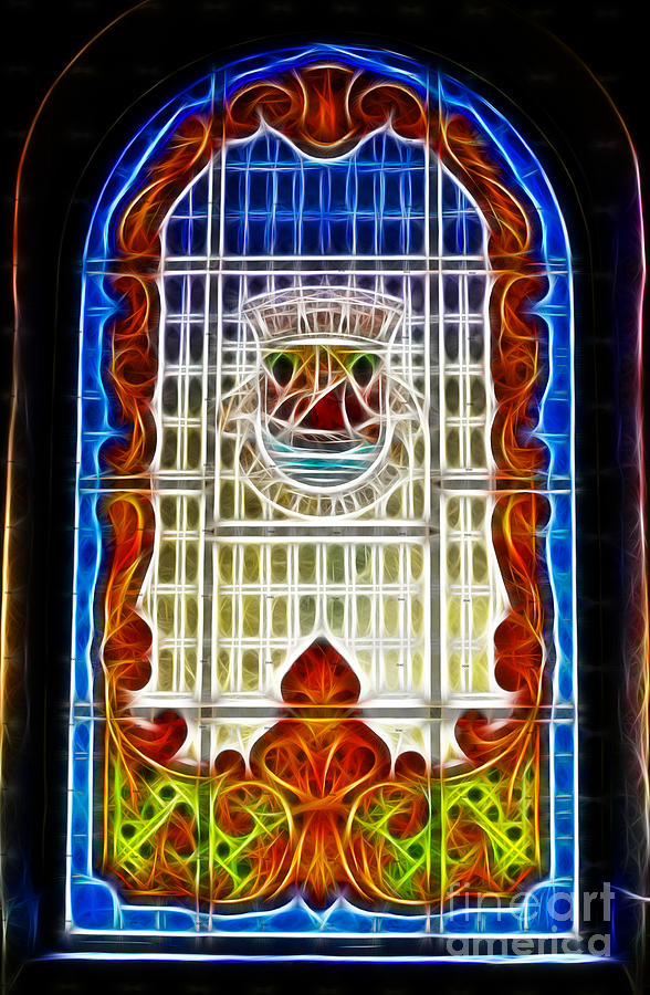 Stained Glass Photograph - Barriero Window by Darleen Stry