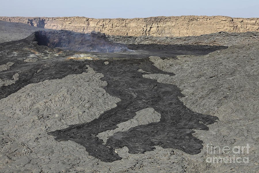 Terrain Photograph - Basaltic Lava Flow From Pit Crater by Richard Roscoe