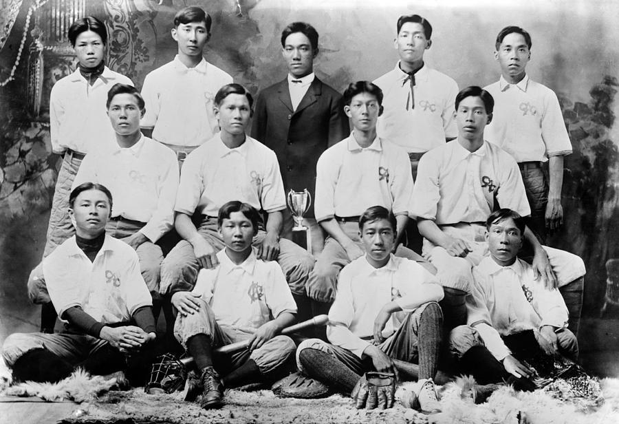 1910s Photograph - Baseball. Chinese-american Baseball by Everett