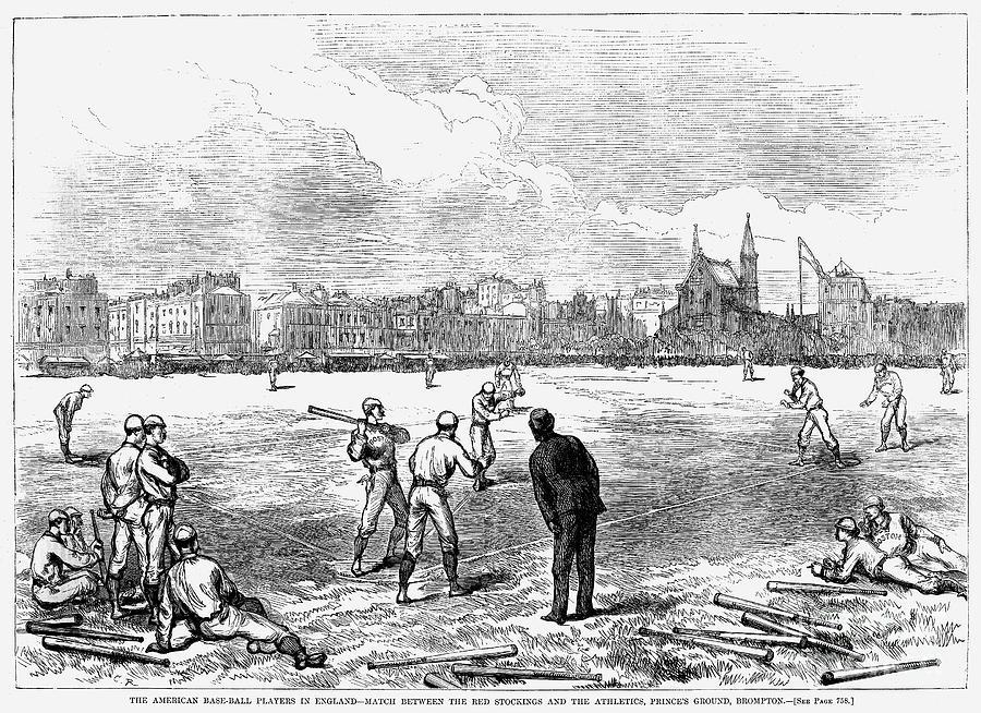 1874 Photograph - Baseball: England, 1874 by Granger