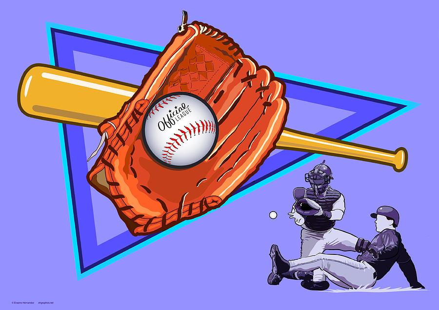 Baseball Digital Art - Baseball by Erasmo Hernandez