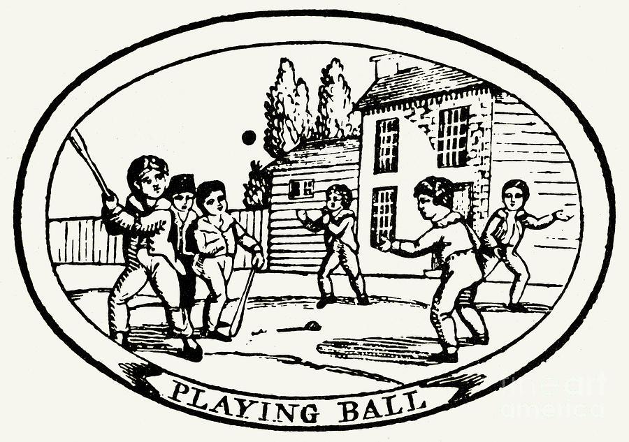 1820 Photograph - Baseball Game, 1820 by Granger