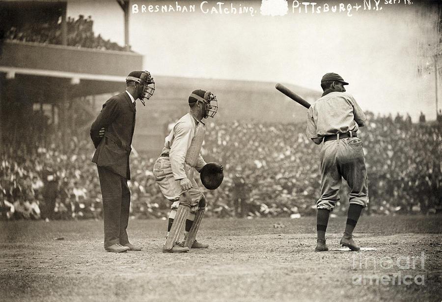 1908 Photograph - Baseball Game, 1908 by Granger