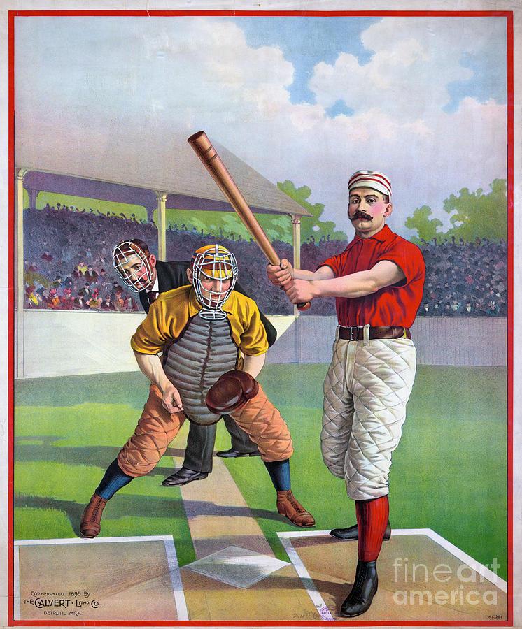 1895 Photograph - Baseball Game, C1895 by Granger