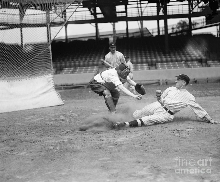 1915 Photograph - Baseball Game, C1915 by Granger