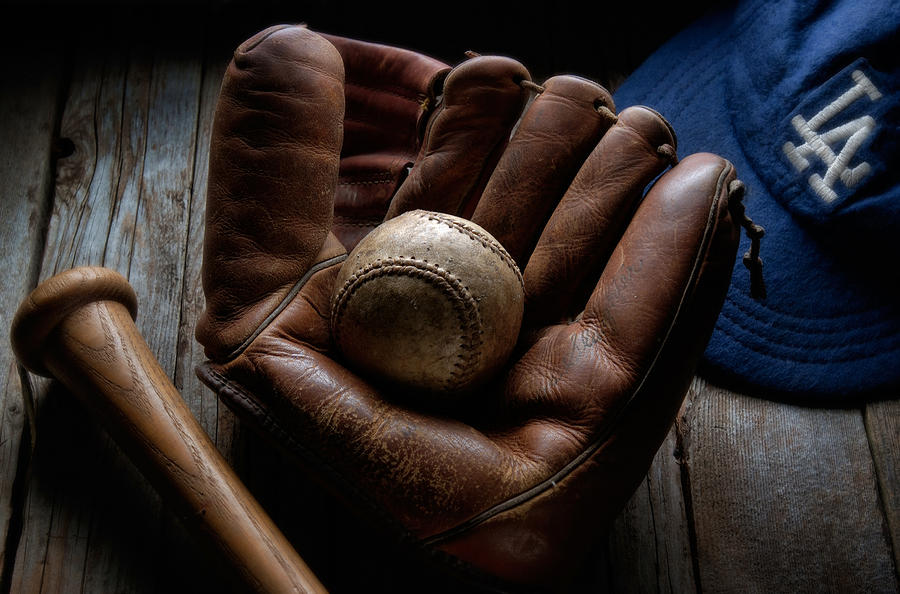 Baseball Photograph - Baseball Glove by Bob Nardi
