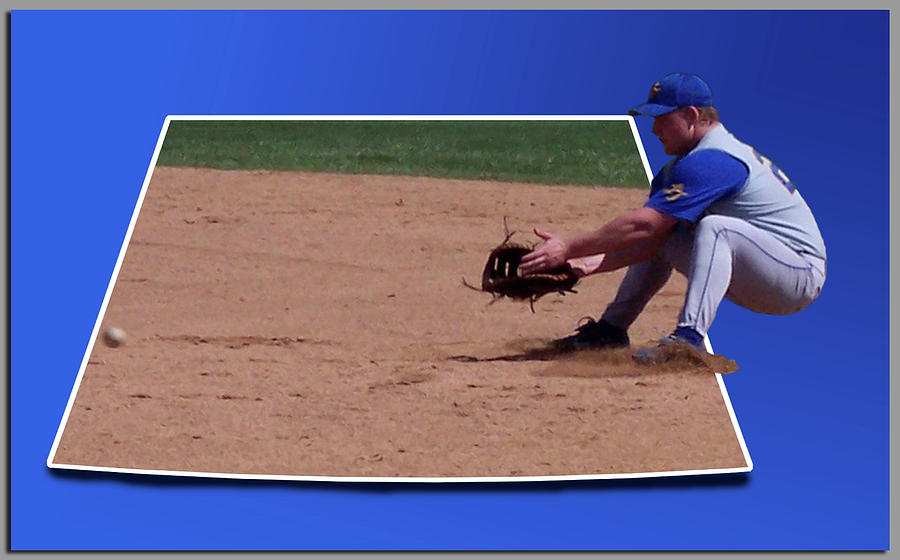 Out Of Bounds Photograph - Baseball Hot Grounder by Thomas Woolworth