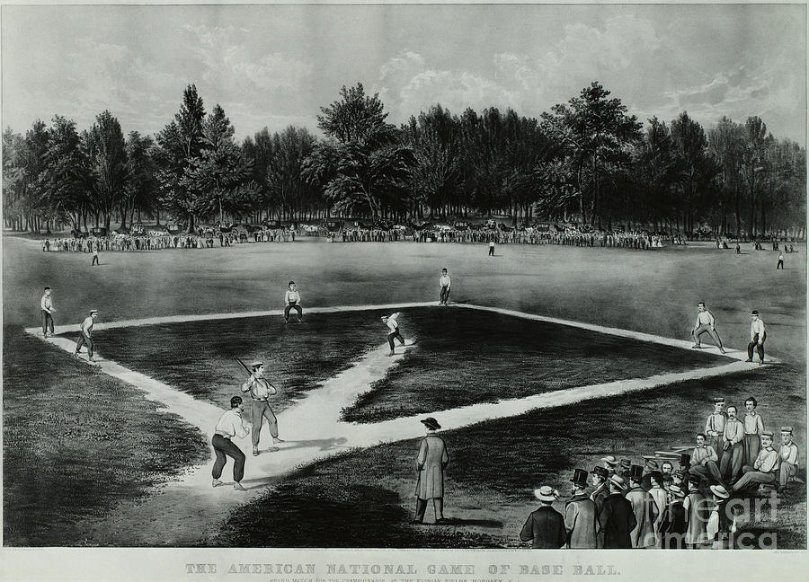 Baseball Photograph - Baseball In 1846 by Omikron