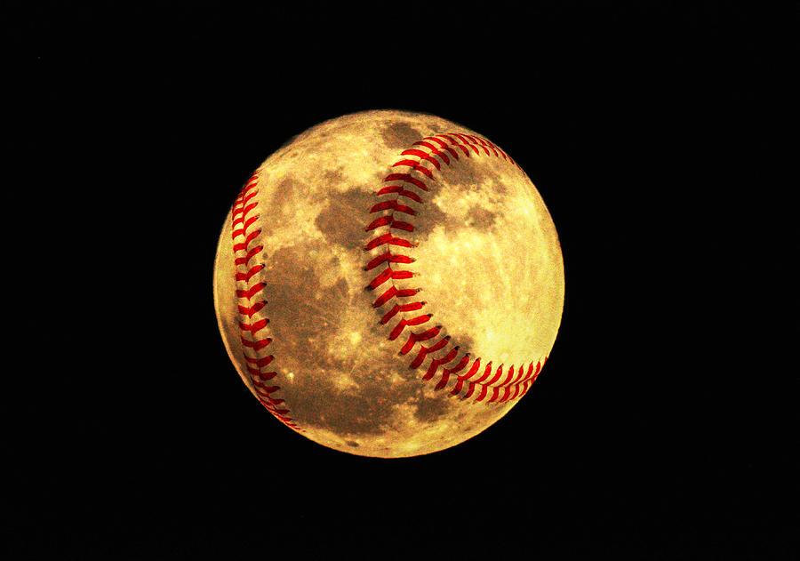 Baseball Moon Photograph - Baseball Moon by Bill Cannon