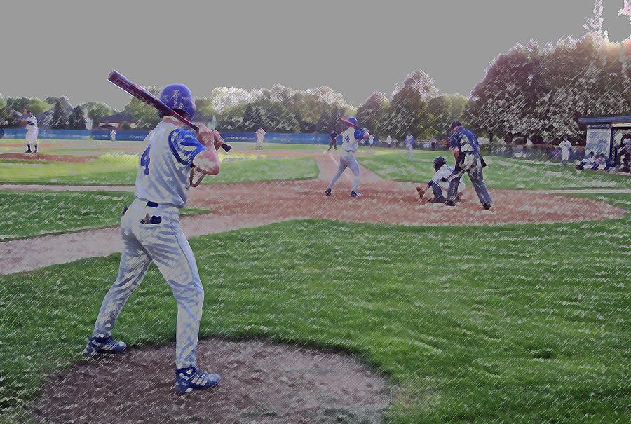 Sports Digital Art - Baseball On Deck Digital Art by Thomas Woolworth