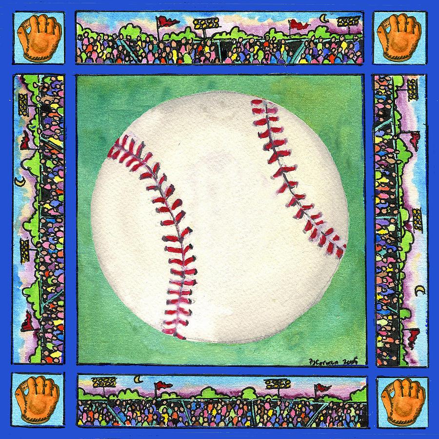 Baseball Painting - Baseball by Pamela  Corwin