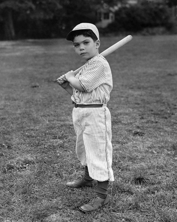 6-7 Years Photograph - Baseball Player by L M Kendall