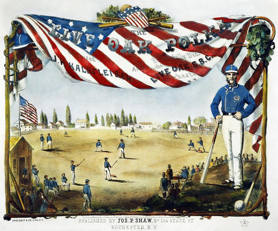 1860 Photograph - Baseball Song Sheet, 1860 by Granger
