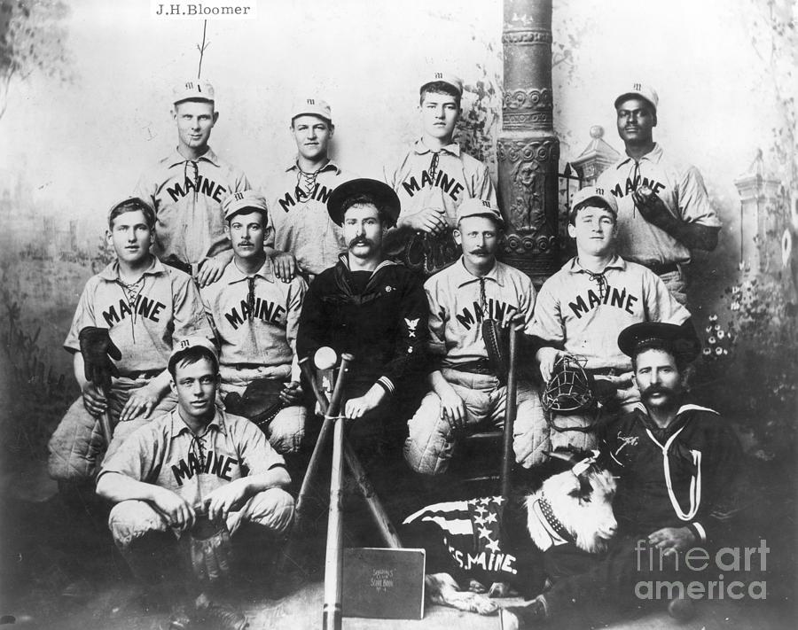 1898 Photograph - Baseball Team, C1898 by Granger