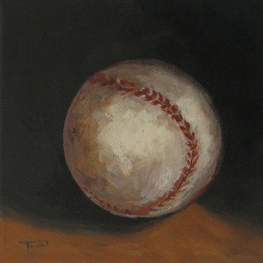 Baseball Painting - Baseball by Torrie Smiley