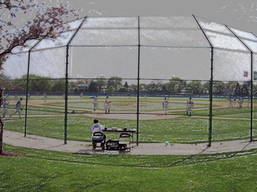 Sports Digital Art - Baseball Warm Ups Digital Art by Thomas Woolworth