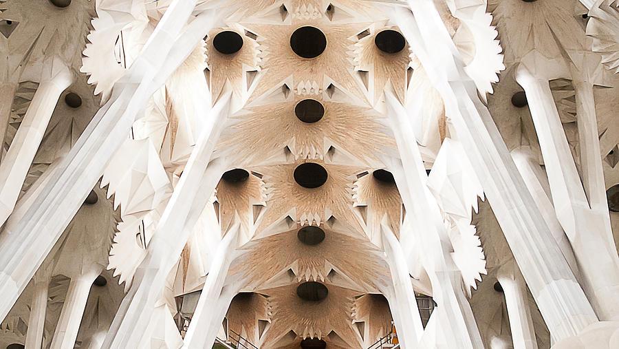 Sagrada Photograph - Basilica De La Sagrada Familia In Barcelona by Beth Riser