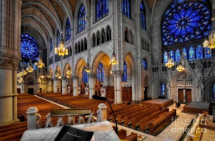 Altar Photograph - Basilica Of The Sacred Heart by Susan Candelario