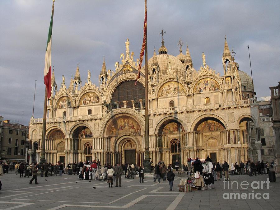 Italie Photograph - Basilica San Marco by Bernard Jaubert