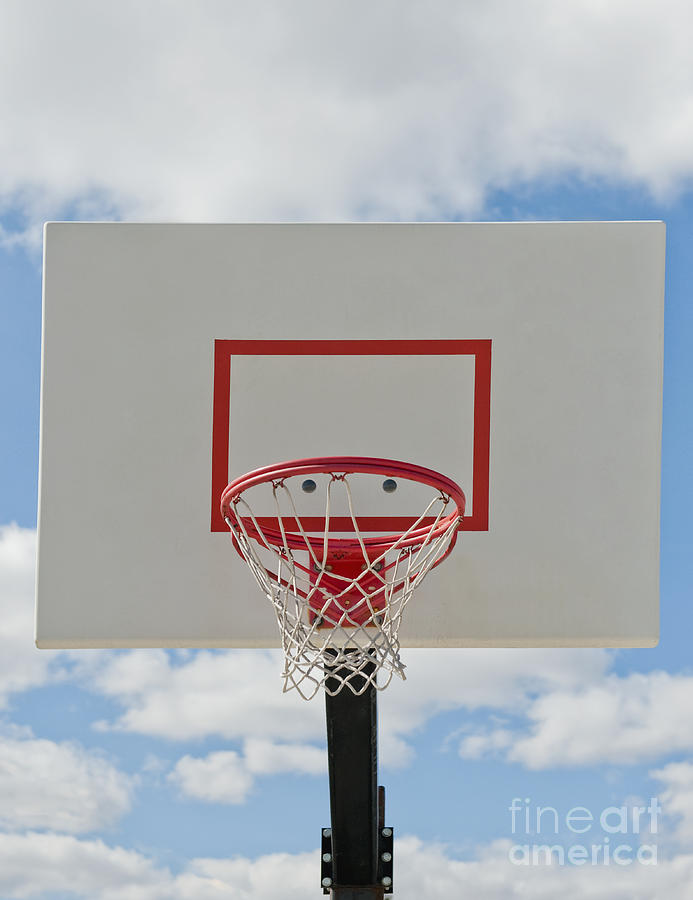 Backboard Photograph - Basketball Backboard With Hoop And Net by Thom Gourley/Flatbread Images, LLC