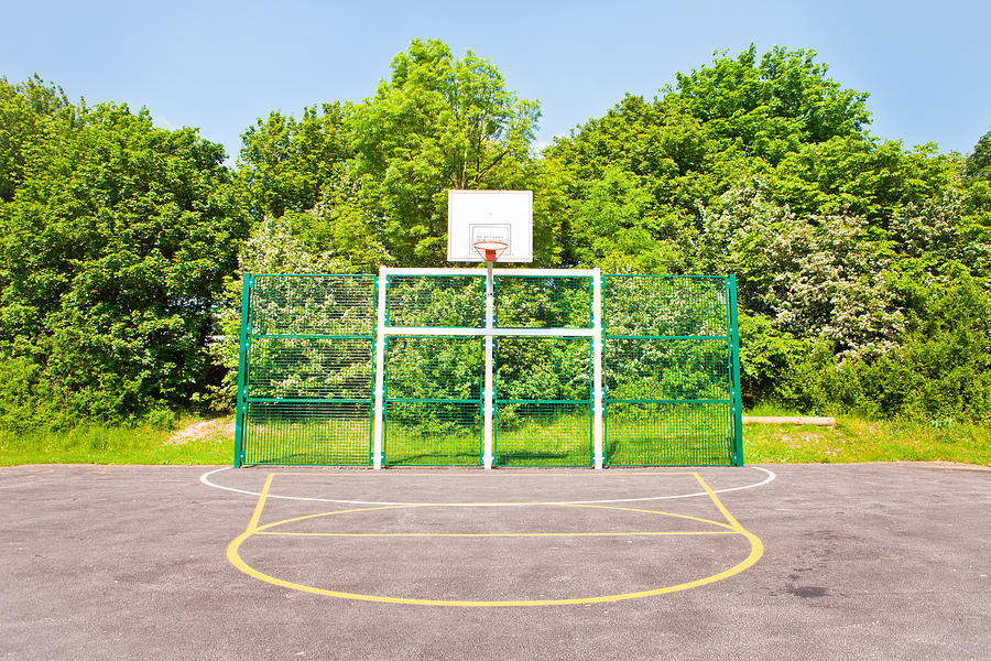 Athletes Photograph - Basketball Court by Tom Gowanlock