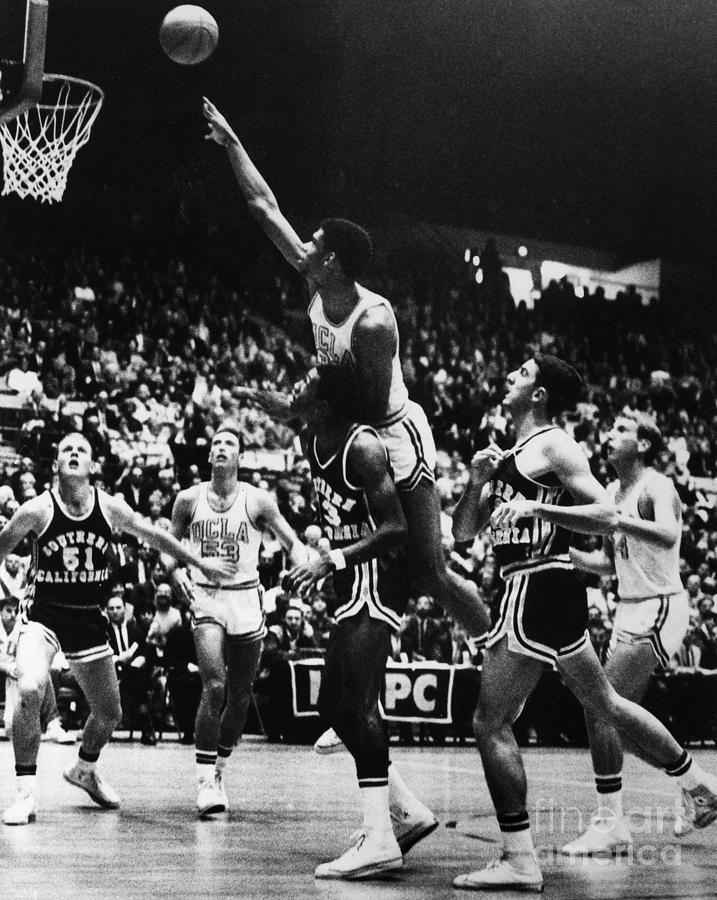 1966 Photograph - Basketball Game, 1966 by Granger