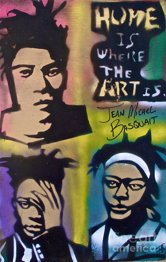 Andy Worhol Painting - Basquait Squared by Tony B Conscious
