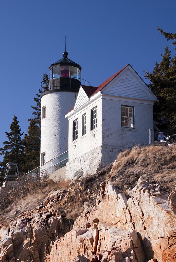Bass Harbor Lighthouse Photograph - Bass Harbor Lighthouse Acadia National Park by Glenn Gordon