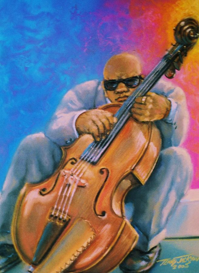 Bass Musician Pastel - Bass Player by Terry Jackson