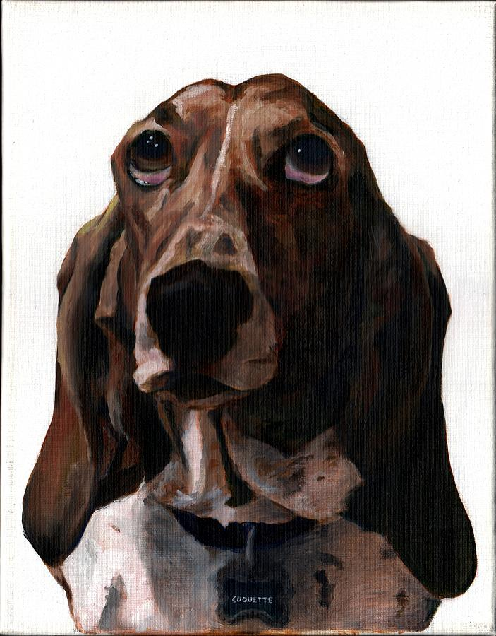 Basset Hound Painting - Basset Hound Named Coquette by Thomas Weeks