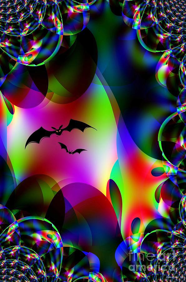 Bat Digital Art - Bat Cave by Maria Urso
