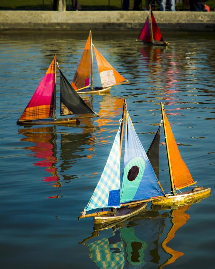 Sailboat Photograph - Bateaux Jouets by Beth Riser