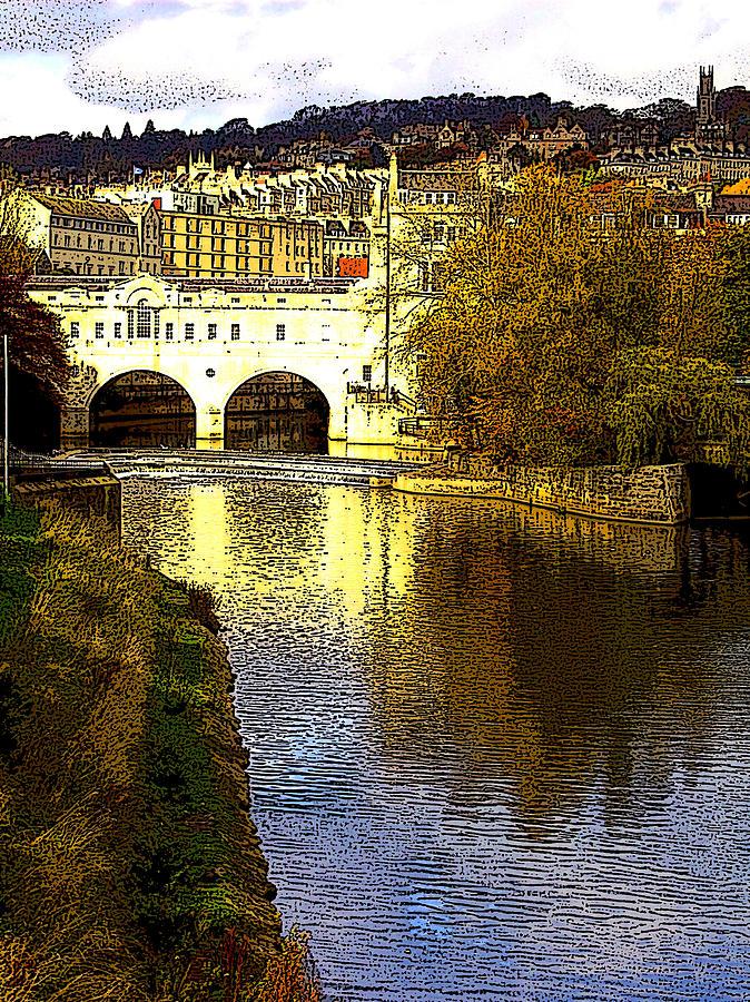 Bath England Digital Art by Bournemouth Artist
