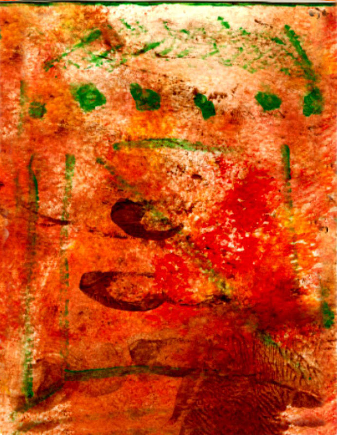 Nature Painting - Bathed In Clay Garden  by Kimanthi Toure