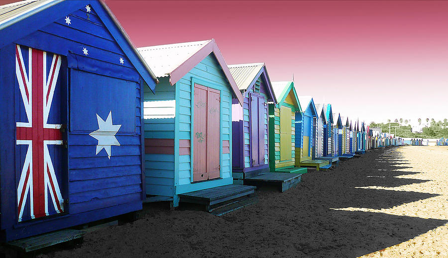 Bathing Boxes Photograph - Bathing Boxes Brighton Beach by Roz McQuillan