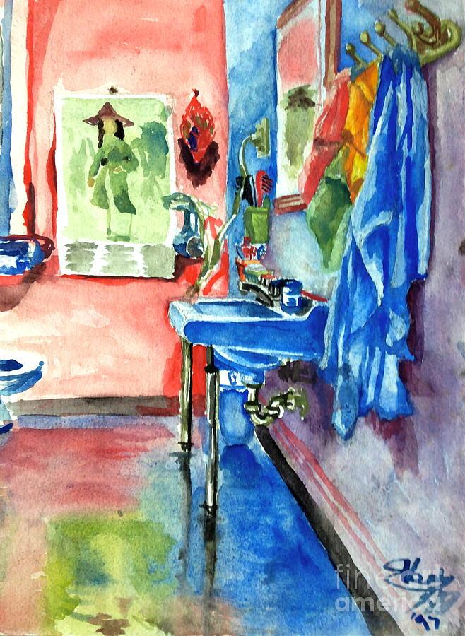 Bathroom Painting - Bathroom by Mike N