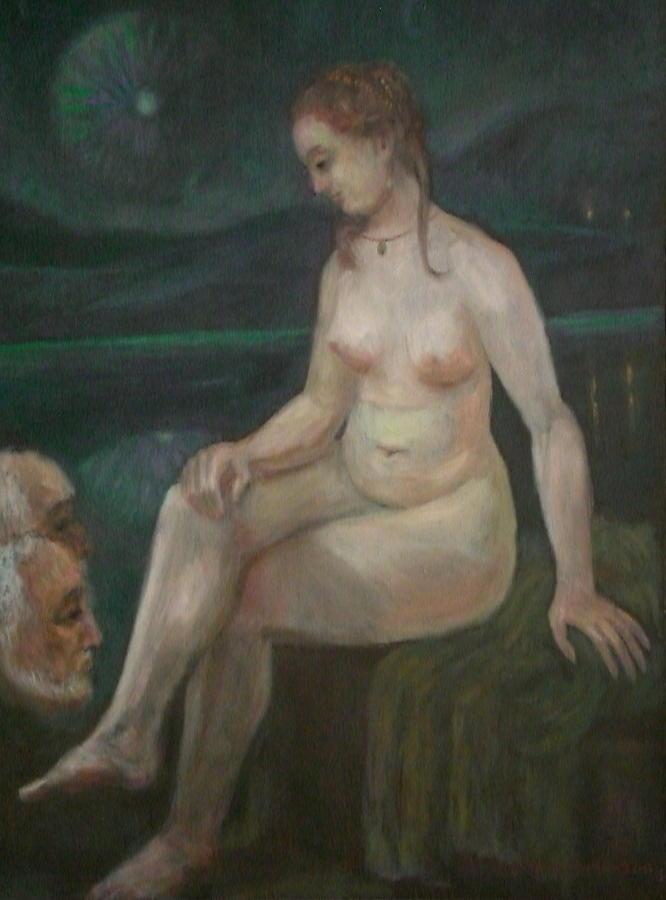 Bathsheba Painting - Bathsheba and Elders.Rembrandt or not. by Edward Tabachnik