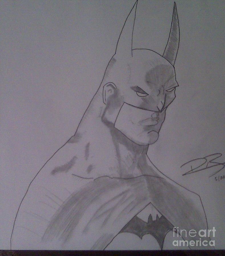 Batman Drawing - Batman by Ronnie Black