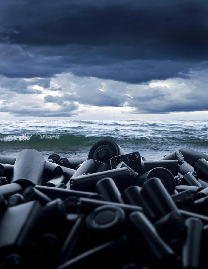Battery Photograph - Batteries Polluting The Environment by Richard Kail