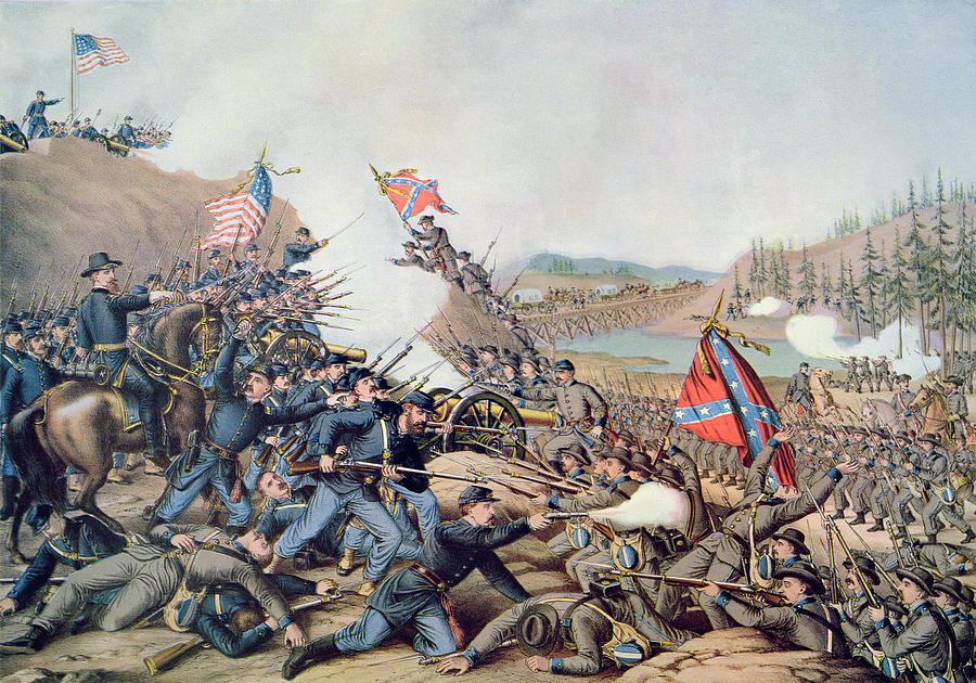 November 30th 1864 Painting - Battle Of Franklin November 30th 1864 by American School