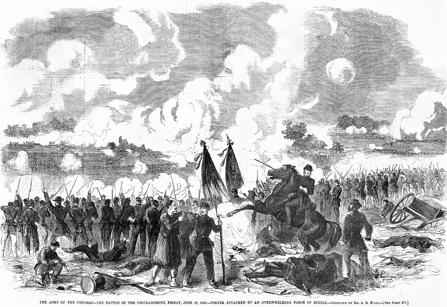 1862 Photograph - Battle Of The Chickahominy by Granger