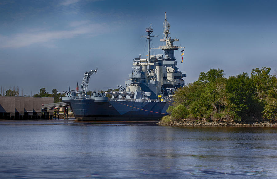 Battleship Photograph - Battleship Nc by Christina Durity
