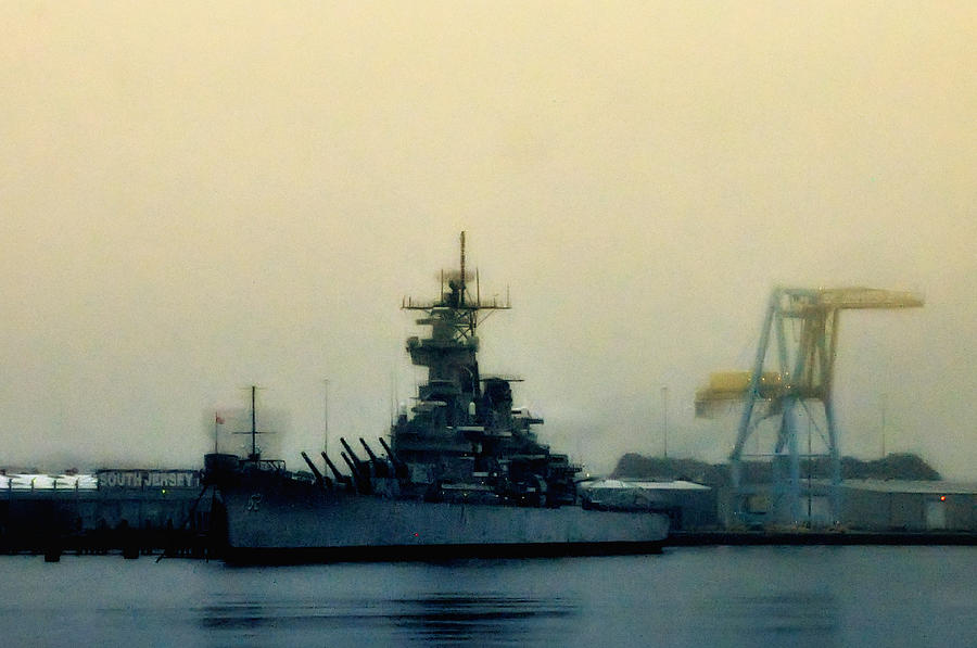 Battleship New Jersey Photograph - Battleship New Jersey by Bill Cannon