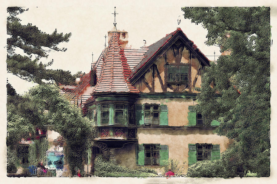 Bavarian Cottage Digital Art By Dennis Wright Aka The